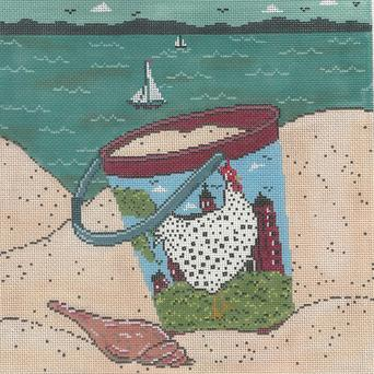 click here to view larger image of Dottie By The Sea (hand painted canvases)