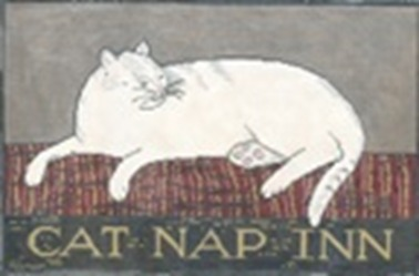 click here to view larger image of Cat Nap Inn - 13ct (hand painted canvases)