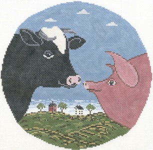 click here to view larger image of Country Cousins (hand painted canvases)