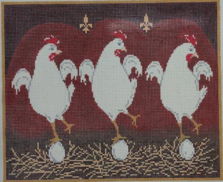 click here to view larger image of Dancing Chickens (hand painted canvases)