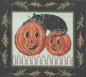click here to view larger image of Pumpkin Dreams (hand painted canvases)