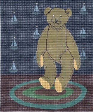 click here to view larger image of Sailor Bear (hand painted canvases)