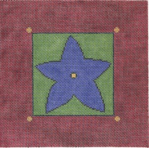 click here to view larger image of Blue Star (hand painted canvases)