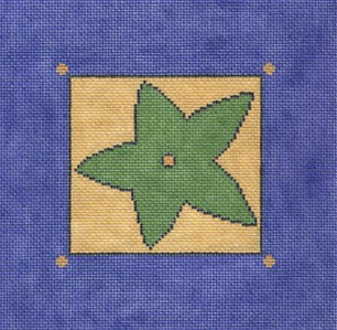 click here to view larger image of Green Star (hand painted canvases)
