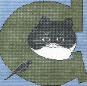 click here to view larger image of Cat/Crow (hand painted canvases)