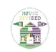 click here to view larger image of House Divided Baylor and TCU (hand painted canvases)