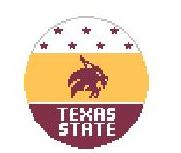 click here to view larger image of Texas State (hand painted canvases)
