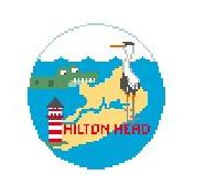click here to view larger image of Hilton Head (hand painted canvases)