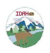 click here to view larger image of Idaho (hand painted canvases)