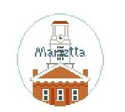 click here to view larger image of Marietta College (hand painted canvases)