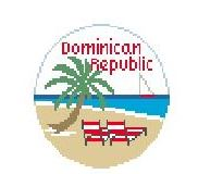 click here to view larger image of Dominican Republic (hand painted canvases)