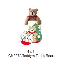 click here to view larger image of Teddy With Teddy Bear Mini Sock (hand painted canvases)