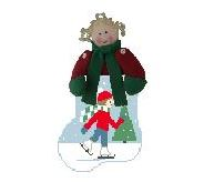 click here to view larger image of Ice Skating Girl Mini Sock (hand painted canvases)