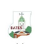 click here to view larger image of Bates College Maine Mini Sock (hand painted canvases)