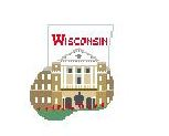 click here to view larger image of U Of Wisconsin Mini Sock (hand painted canvases)