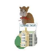 click here to view larger image of Connecticut College With Camel Mini Sock (hand painted canvases)