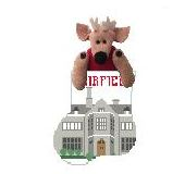 click here to view larger image of Fairfield University With Stag Mini Sock (hand painted canvases)