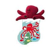 click here to view larger image of Octopus With Octopus Mini Sock (hand painted canvases)