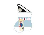 click here to view larger image of Girl Swimmer With Goggles Mini Sock (hand painted canvases)