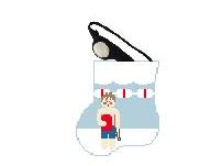 click here to view larger image of Boy Swimmer With Goggles Mini Sock (hand painted canvases)