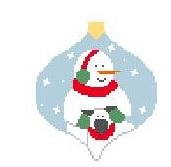 click here to view larger image of Snowman With Sheep Bauble (hand painted canvases)