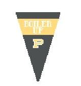 click here to view larger image of Purdue Pennant (hand painted canvases)