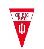 click here to view larger image of Indiana U Pennant (hand painted canvases)