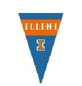 click here to view larger image of U Of Illinois Pennant (hand painted canvases)