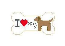click here to view larger image of I Love My Golden (hand painted canvases)