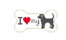 click here to view larger image of I Love My Black Lab (hand painted canvases)