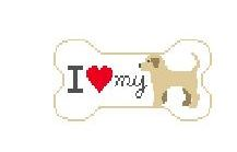 click here to view larger image of I Love My Yellow Lab (hand painted canvases)