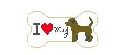 click here to view larger image of I Love My Chocolate Lab (hand painted canvases)