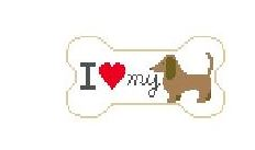 click here to view larger image of I Love My Dachshund (hand painted canvases)