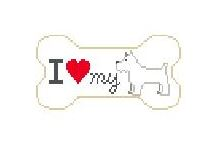 click here to view larger image of I Love My Westie (hand painted canvases)