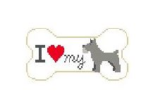 click here to view larger image of I Love My Schnauzer (hand painted canvases)