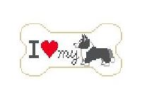 click here to view larger image of I Love My Corgi (hand painted canvases)