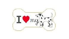 click here to view larger image of I Love My Dalmation (hand painted canvases)