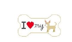 click here to view larger image of I Love My Chihuahua (hand painted canvases)