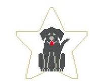 click here to view larger image of Black Lab Star (hand painted canvases)