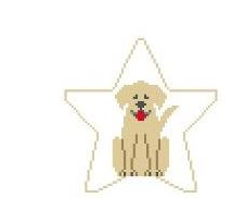 click here to view larger image of Yellow Lab Star (hand painted canvases)