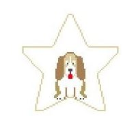 click here to view larger image of Bassett Hound Star (hand painted canvases)