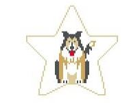 click here to view larger image of Border Collie Star (hand painted canvases)