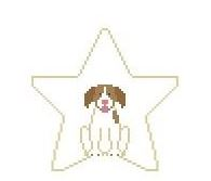 click here to view larger image of Brittany Spaniel Star (hand painted canvases)
