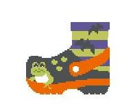 click here to view larger image of Black Halloween Croc (hand painted canvases)