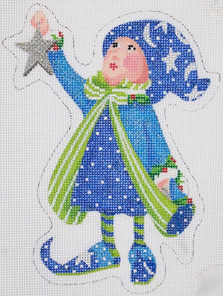 click here to view larger image of Comets Star Elf Mini (hand painted canvases)