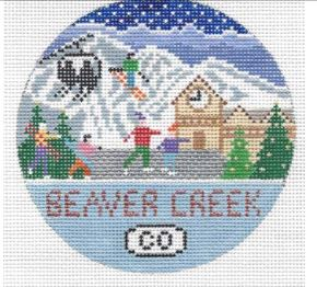 click here to view larger image of Beaver Creek Round (hand painted canvases)
