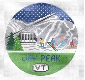 click here to view larger image of Jay Peak Round (hand painted canvases)