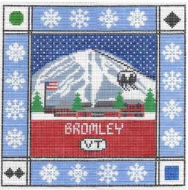 click here to view larger image of Bromley Mountain Square (hand painted canvases)