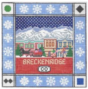 click here to view larger image of Breckenridge Square (hand painted canvases)