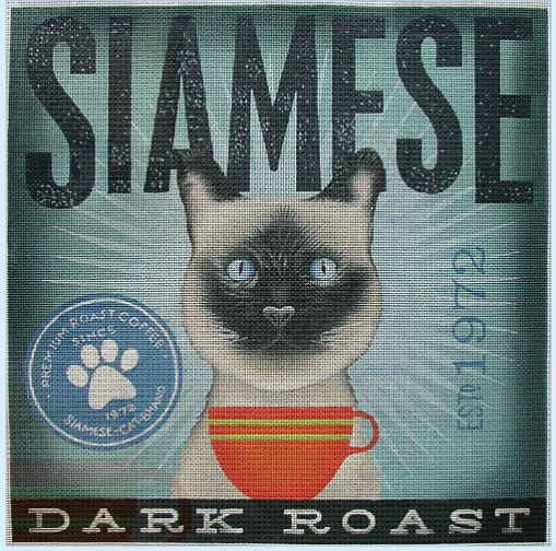 click here to view larger image of Siamese (Dark Roast) (hand painted canvases)